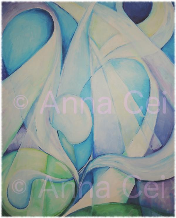 Pearl (Acrylic on canvas)