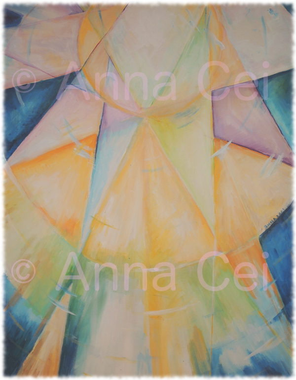 Symbolic Sun (acrylic on canvas)